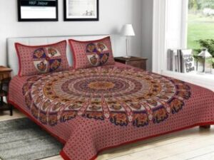 Double Bed Cotton Jaipur Prints Bedsheets